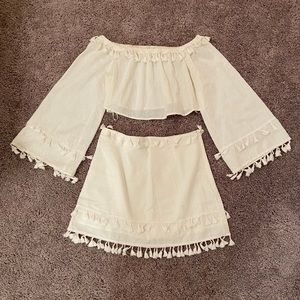 White skirt and top